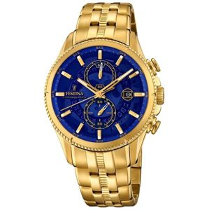 Festina Gold Blue Chrono 20269/2
