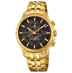 Festina Gold Black Chrono 20269/3